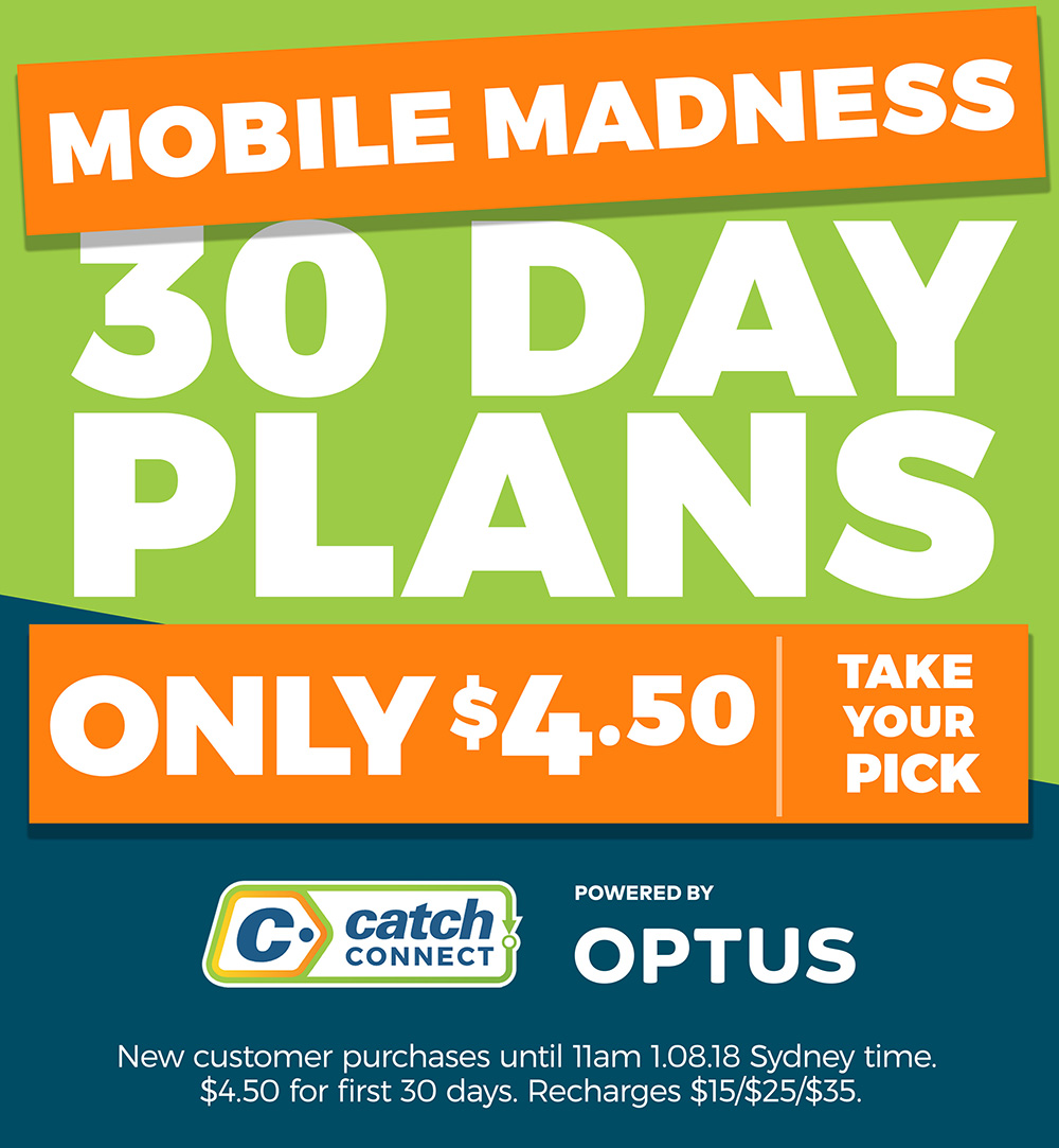 All 30 day plans $4.50