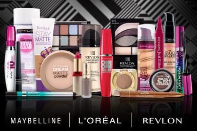 Revlon, Maybelline & L'Oreal Cosmetics