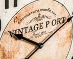Large Round 60cm Vintage Port Clock 3