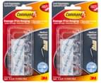 2 x 3M Command Damage-Free Hanging Cord Clips 4-Pack - Clear 3