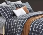 Ardor Dawson Double Quilt Cover Set - Charcoal 2