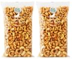 2 x Eat Well Cashews Salted 500g 1
