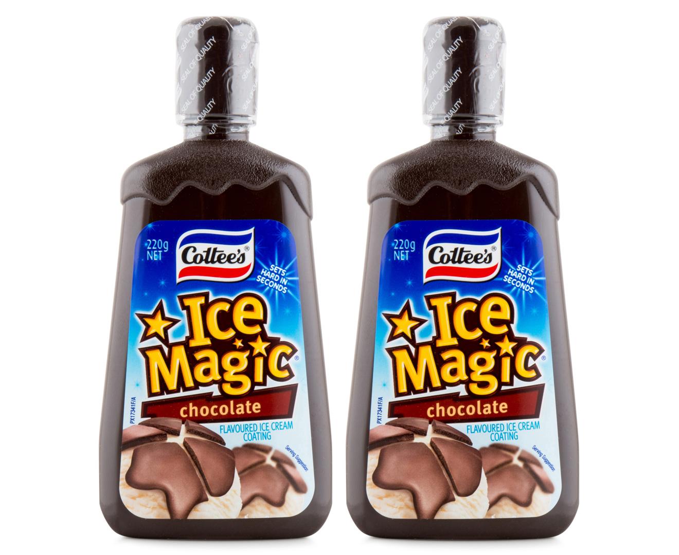 2 x cottee s ice magic chocolate 220g catch com au