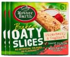 3 x Mother Earth Baked Oaty Slices Strawberry & Yoghurt 6pk 1