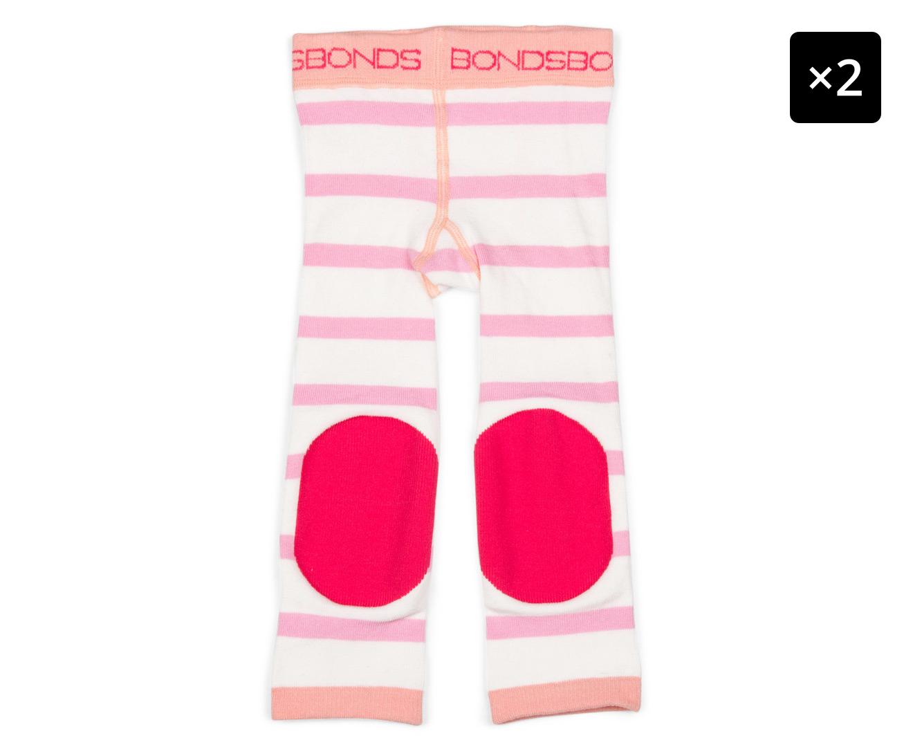 e56669b41 2 x Bonds Baby Size 6-18 Months Crawler Legging - Paddle Pop Pink |  Catch.com.au