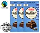3 x Alter Eco Dark Blackout Organic Chocolate 80g 1