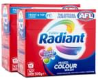 2 x Radiant Front & Top Loader Mixed Colour Laundry Powder 500g 1