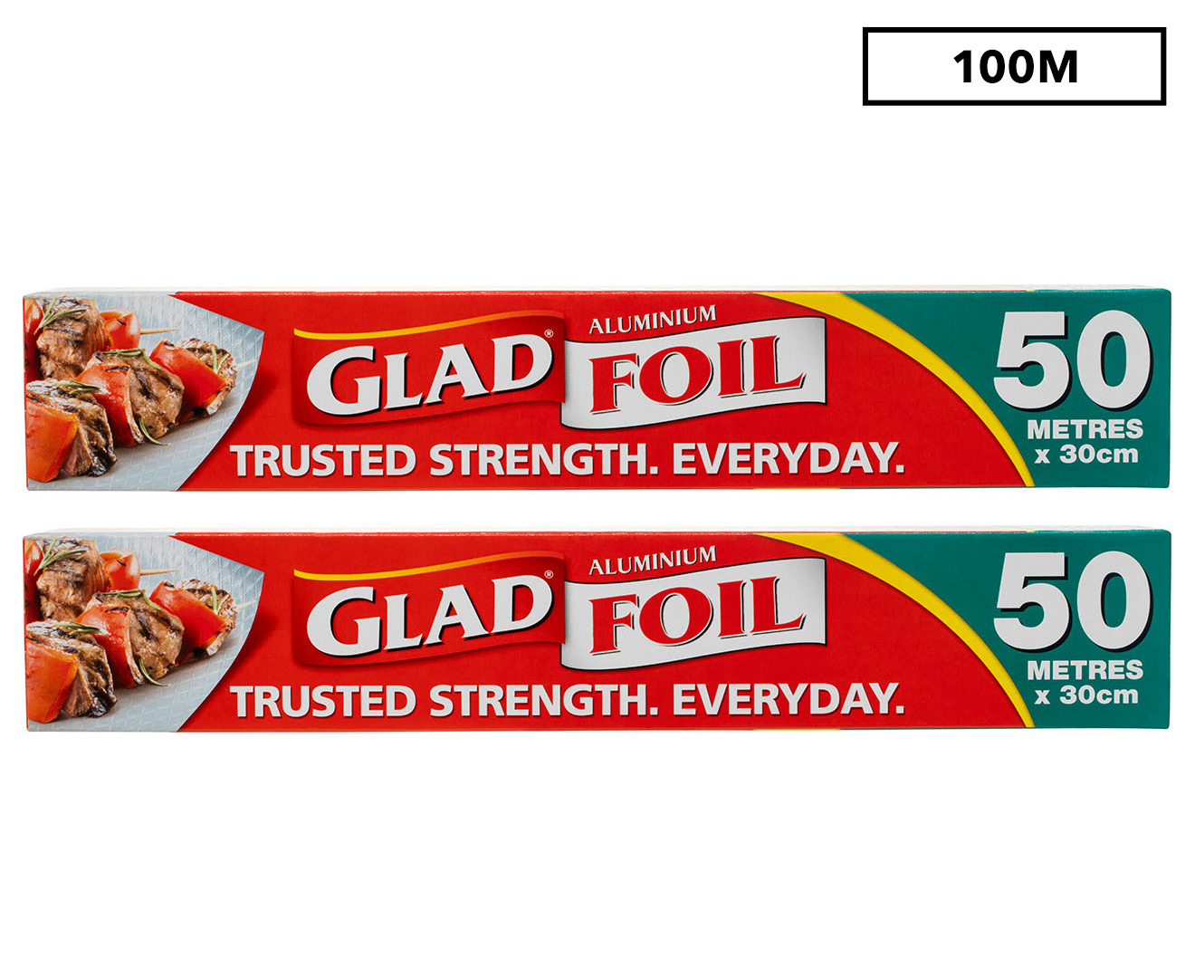 2 x glad aluminium foil 50m ebay