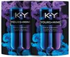 2 x KY Yours + Mine Lubricants 88mL 1