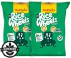 2 x Healtheries Bite Size Rice Wheels Roasted Chicken 180g 10pk 1
