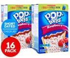 2 x Kellogg's Pop-Tarts Frosted Raspberry 384g 8pk 1