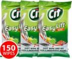 3 x CIF Easy Lift Wipes Lemon 50pk 1