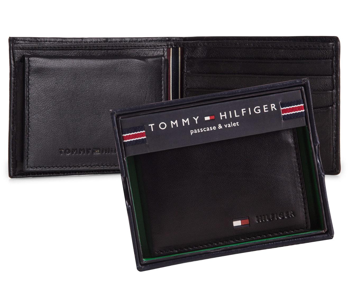 Tommy Hilfiger Men/'s Genuine Leather Bifold Wallet with Valet Case 31TL22X053