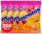 4 x Mentos Fruit Chews 50pk 135g 1
