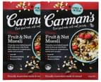 2 x Carman's Classic Fruit & Nut Muesli 500g 1