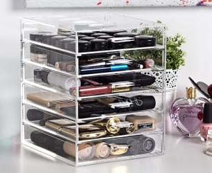 6-Drawer Acrylic Cosmetics Organiser