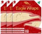 3 x Eagle Foods White Wraps 8pk 1