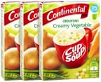 3x Continental Cup A Soup Croutons Creamy Veg 55g 1