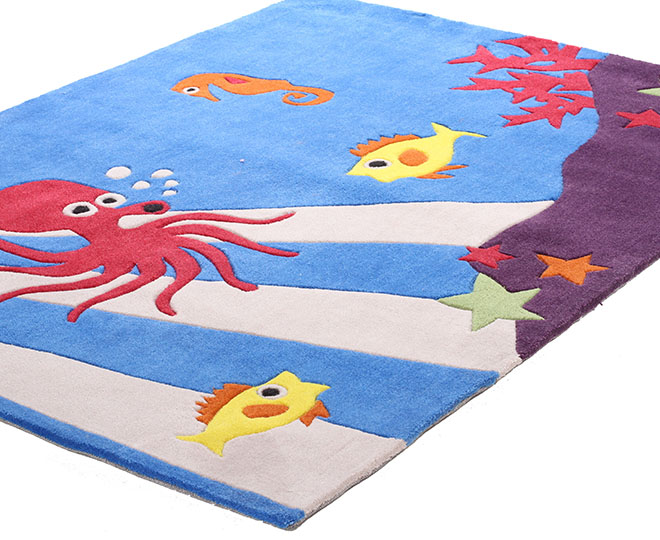 creative kids 165 x 115cm under the sea rug blue. Black Bedroom Furniture Sets. Home Design Ideas