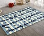 Creative Kids 165 x 115cm Anchor Rug - Blue 2
