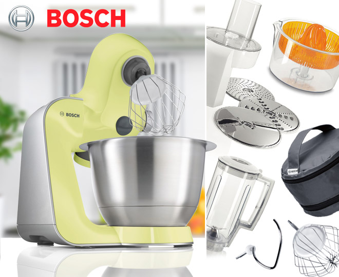 bosch mum5 styline kitchen machine passion yellow. Black Bedroom Furniture Sets. Home Design Ideas