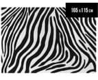 Zebra 165x115cm Premium Acrylic Rug - Black/White 1