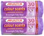 2x Multix Colour Scents Lavender Drawtight Tidy Bags Med 30pk 3