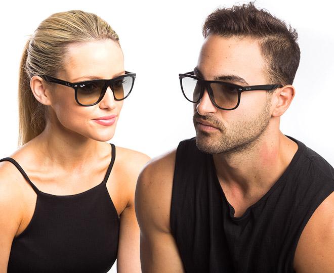 4f4debf480 Ray-Ban Boyfriend Sunglasses - Shiny Black