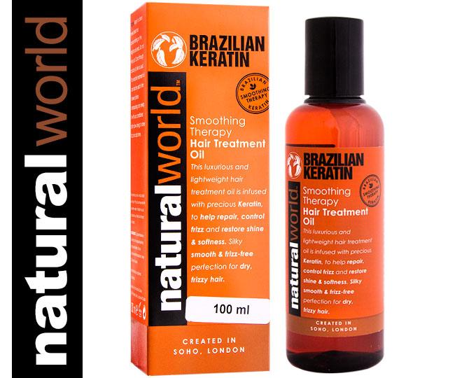 natural world brazilian keratin hair treatment oil 100ml