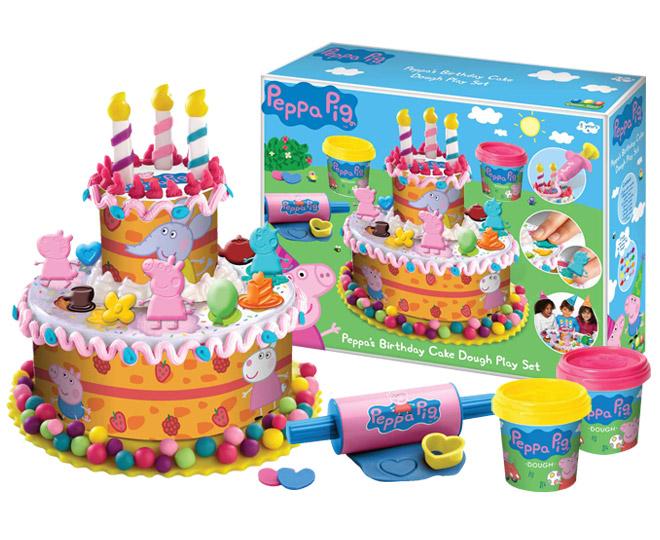 Peppa Pig Peppas Birthday Cake Dough Play Set Catch