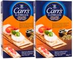 2x Carr's Flatbreads Thin & Crispy Crackers Mixed Seeds 150g 1