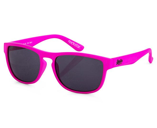 Superdry Rockstar Sunglasses Fluro Purple Pink Catch