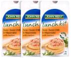 3 x John West Lunch Kit Tuna + Sweet Chilli Mayo With Crackers 108g 1