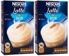 2 x Nescafé Cafe Menu Latté Skim 10pk 125g 1