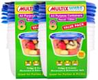 2 x Multix Ware All Purpose Containers Round 739mL 8pk 1
