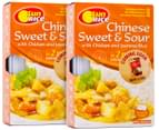 2x SunRice Chinese Sweet & Sour Chicken & Jasmine Rice 320g 1