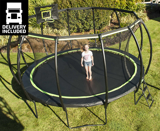 Jumpflex Flex 140 Lifestyle Trampoline Black Green
