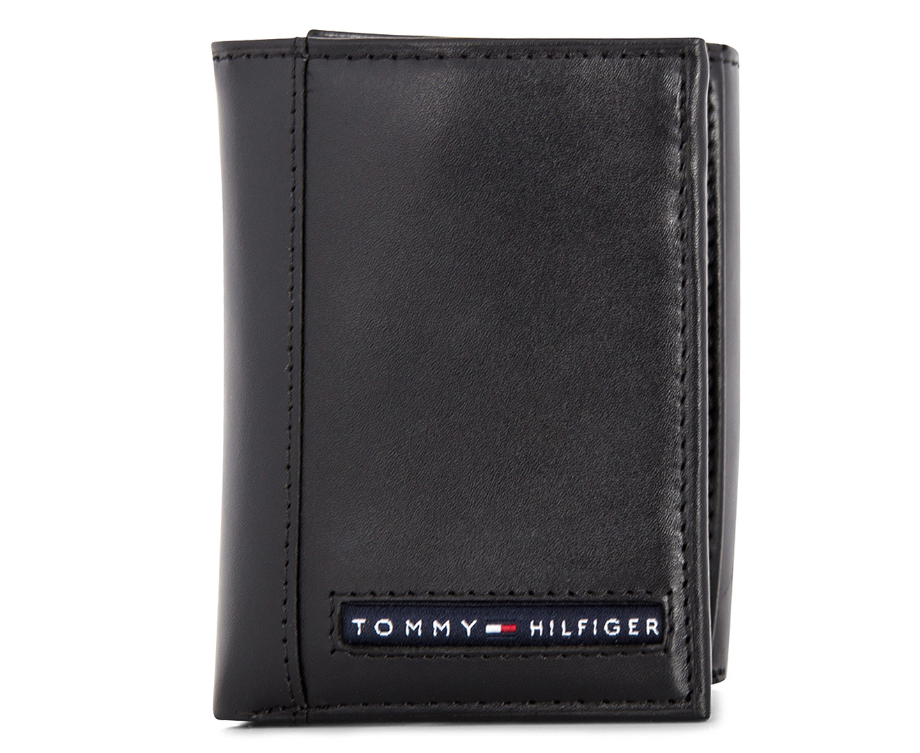 Brand New Genuine Leather TOMMY HILFIGER Mens Brown Cambridge Trifold Wallet