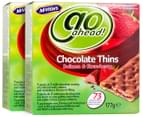 2x McVitie's Go Ahead Chocolate Thins Sultana & Strawberry 177g 4