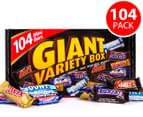 Mars Giant Variety Box Mini Size 104pc 1.6kg 1