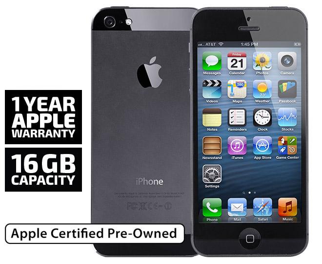 Apple iPhone 5 16GB Unlocked Black REFURB
