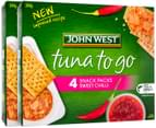 2 x John West Tuna To Go Snack Packs Sweet Chilli 244g 4pk 4