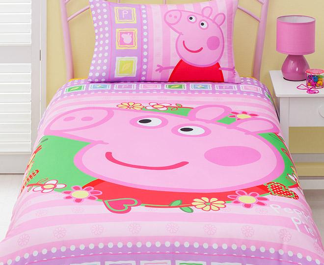 Peppa Pig   U0027I Love Peppau0027 Single Quilt Cover Set | Catch.com.au