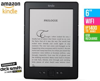 "Kindle 6"" WiFi eReader - Black $99"
