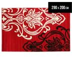 Iconic Modern 290 x 200cm Rug - Red/Cream/Black 1