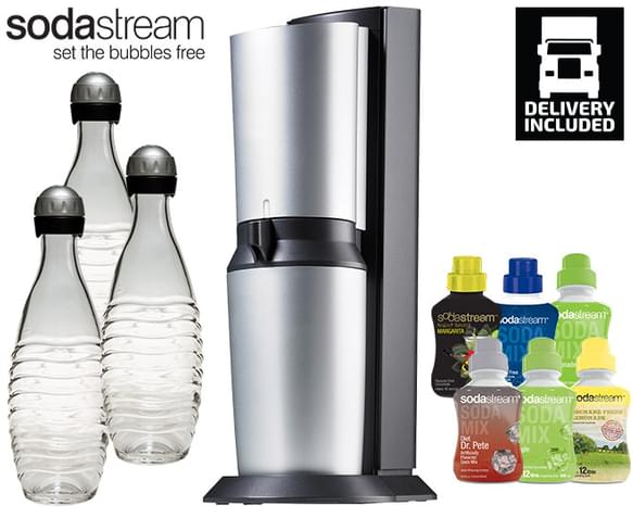 sodastream crystal drinks maker pack titan. Black Bedroom Furniture Sets. Home Design Ideas