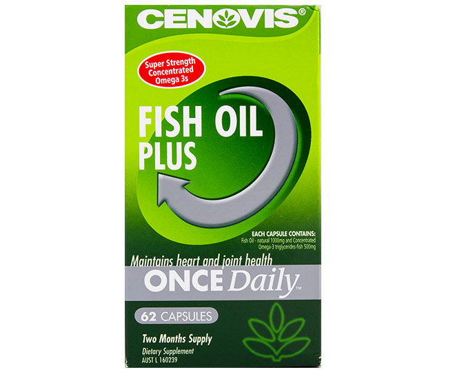 Cenovis once daily fish oil plus 62 caps great daily for Daily fish oil