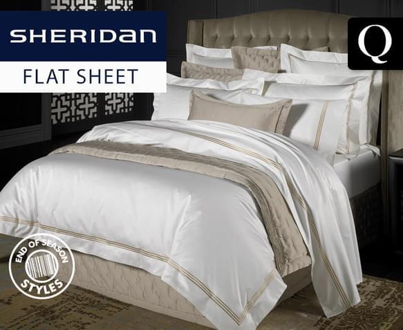 sheridan palais queen flat sheet. Black Bedroom Furniture Sets. Home Design Ideas