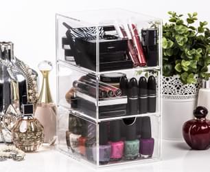 3-Drawer Acrylic Nail Polish & Cosmetics Organiser