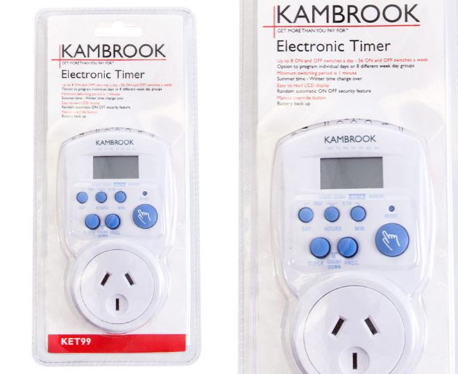 Kambrook kd86 timer manual